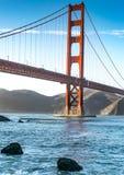 San Francisco Golden Gate Bridge Sunset stockfotografie
