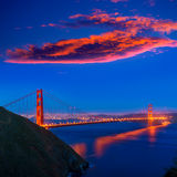 San Francisco Golden Gate Bridge sunset California Royalty Free Stock Photo