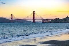 San Francisco Golden Gate Bridge Sunset royalty free stock photo