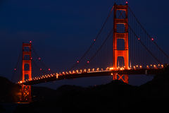 San Francisco - Golden Gate Bridge at Twilight Royalty Free Stock Photography