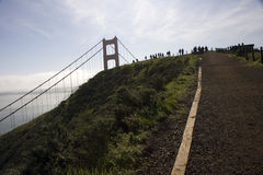 San Francisco Golden Gate Bridge view to the sea Royalty Free Stock Photo