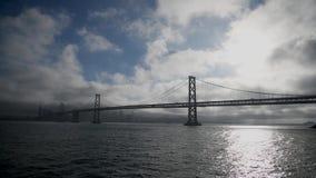 San Francisco Golden Gate Bridge, vista do navio de navigação video estoque