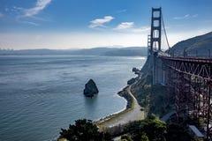 San Francisco Golden Gate Bridge vom Nordstandpunkt lizenzfreie stockfotos