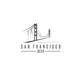 San Francisco Golden gate bridge z piwnymi butelkami wektorowymi Fotografia Stock