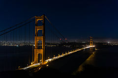 San Francisco Golden Gate bro vid natt royaltyfria foton