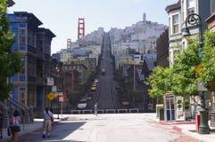 San Francisco Golden Gate en Veulentoren stock foto's