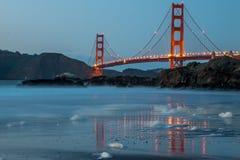 San Francisco Golden Gate från bagarestranden Arkivbild