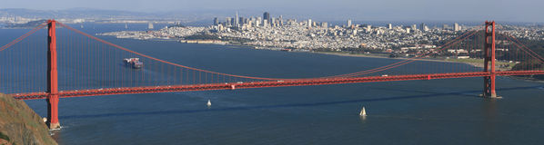 San Francisco and Golden Gate Panorama Stock Photos