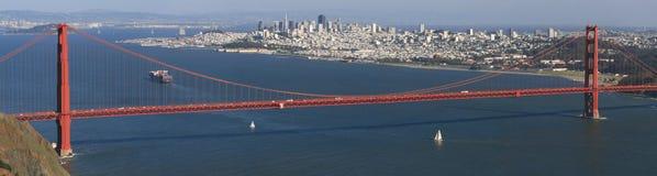 San Francisco and Golden Gate Panorama stock photos