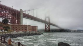 San Francisco Golden Gate. Under the Golden Gate Bridge Stock Photography