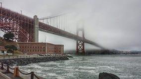 San Francisco Golden Gate. Under the Golden Gate Bridge stock photography