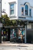 San Francisco Haight Ashbury gatatecken royaltyfria foton
