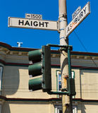 San Francisco Haight Ashbury street sign junction California Royalty Free Stock Photos