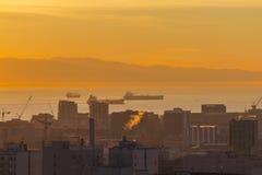 San Francisco Harbor Dawn Royalty-vrije Stock Foto's