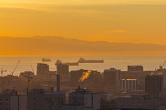 San Francisco Harbor Dawn Fotografie Stock Libere da Diritti