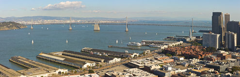 San Francisco harbor panorama Royalty Free Stock Photo