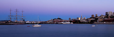 San Francisco Harbour Panoramic Royalty Free Stock Images