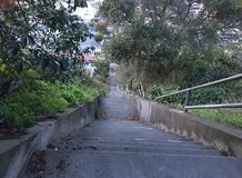 15Th Avenue steps, one of San Francisco`s smallest, UNofficial parks, 10. San Francisco has many beautiful, and well known, parks, as well as hills. There are Stock Image