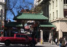 Dragon Chinatown Gate, 1. royalty free stock images