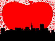 San Francisco with hearts Royalty Free Stock Images