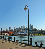San Francisco from Hide Street Pier Stock Photography