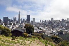 San Francisco Hillside Royalty Free Stock Images