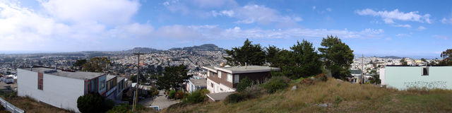 San Francisco hilltop panoramic Royalty Free Stock Photo