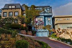 San Francisco Lombard Street Home Stock Photography