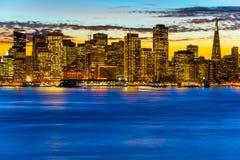 San Francisco horisont Royaltyfri Fotografi