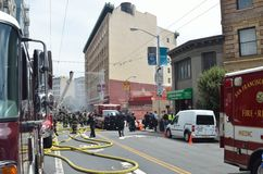 San Francisco Hotel Fire Stock Afbeelding