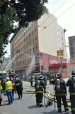 San Francisco Hotel Fire Fotografie Stock