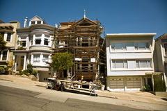 San Francisco, house in  framework Stock Images