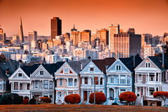 San Francisco houses Royalty Free Stock Photography
