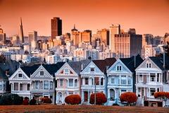 San Francisco houses royalty free stock photography