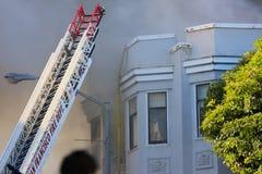 San Francisco - houses on fire Stock Photos