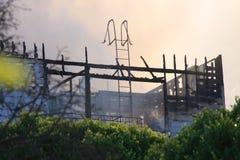 San Francisco - houses on fire Royalty Free Stock Photos