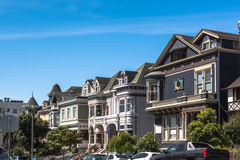 San Francisco hus, Kalifornien Arkivbild