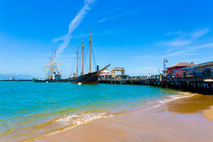 San Francisco Hyde St Pier Beach Ships Docked H Royalty Free Stock Photo