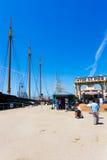 San Francisco Hyde St Pier Ships Docked ingång Arkivbilder