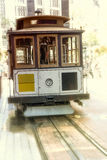 San francisco Hyde Street Cable Car Tram of the Powell-Hyde Royalty Free Stock Photography