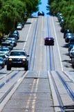 San Francisco Hyde Street Nob Hill in California immagini stock libere da diritti