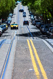 San Francisco Hyde Street Nob Hill in California. USA Royalty Free Stock Photo