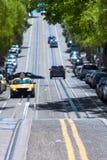 San Francisco Hyde Street Nob Hill en California fotos de archivo libres de regalías
