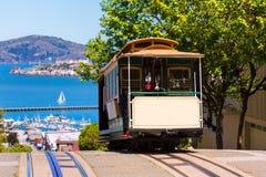 San Francisco Hyde Uliczny wagon kolei linowej Kalifornia Zdjęcie Stock