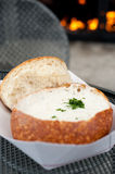San Francisco Icon - Bread Bowl with Clam Chowder Stock Photo
