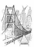 San Francisco Illustration Royalty Free Stock Images