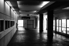 San Francisco International Airport Parking Garage. Inside the San Francisco International Airport Parking Garage Stock Image