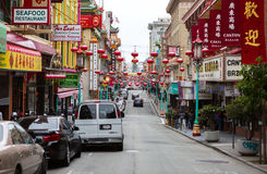 SAN FRANCISCO - 16 JUIN : Rue principale de ville de la Chine le 16 juin 2015 Photos stock