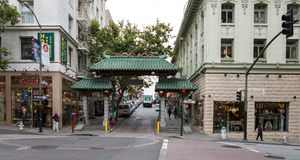 SAN FRANCISCO - 16. JUNI: China-Stadthauptstraße am 16. Juni 2015 Stockfoto