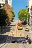 San Francisco Kabel-bil Arkivbild